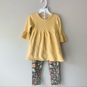 Bonnie Baby Sweater and Floral Leggings
